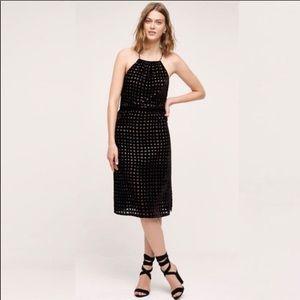 Anthropologie 02SKY Charlotte Velvet Halter Dress
